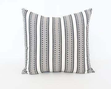 White & Black Sawtooth Accent Pillow - 22x22