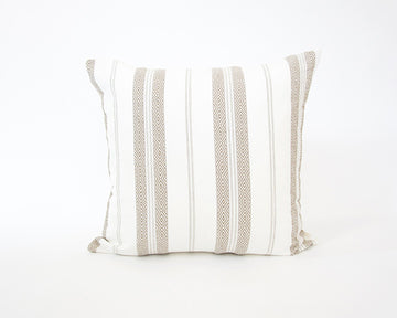White Southwest Stripes Accent Pillow - 24x24