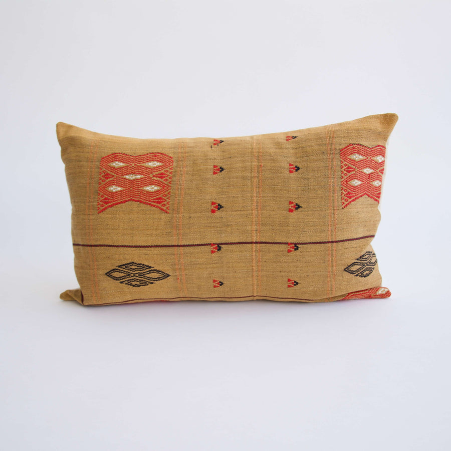 Naga Tribal Lumbar Pillow - Yellow - 14x22