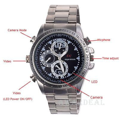 Secret Agent - Waterproof Spy Camera Watch 4GB Motion Detector - Bestshopup