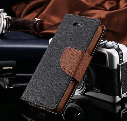 Flip Stand PU Leather Wallet Case for iPhone - Bestshopup