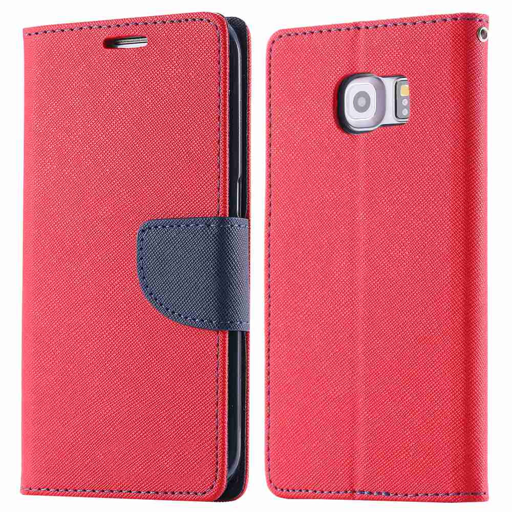 Filp Leather Wallet Stand Phone Case for Samsung Galaxy S6 Edge - Bestshopup