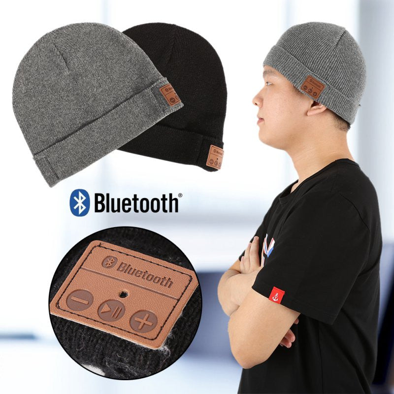 Bluetooth Winter Outdoor Sport Speaker Stereo Music Mic Hat Wireless - Bestshopup