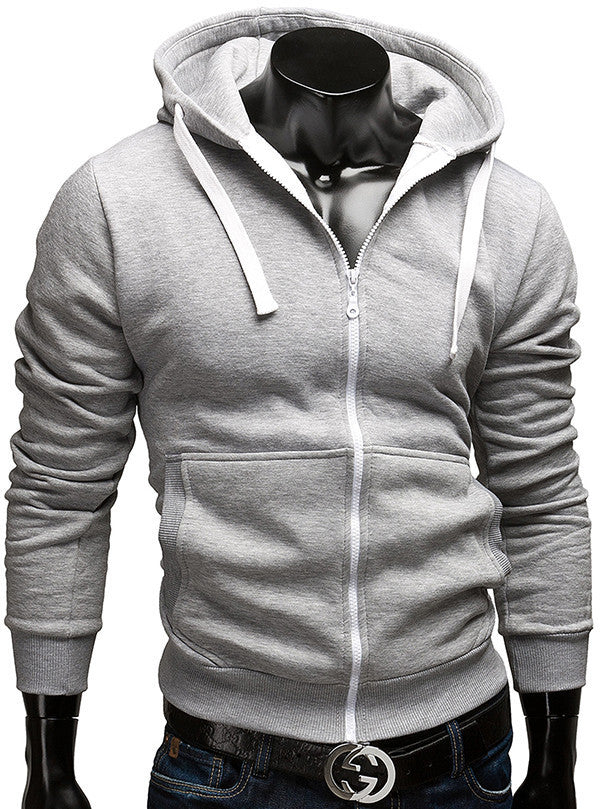 Fashion Brand Hoodies Men Casual Sportswear Man Hoody Zipper - Bestshopup