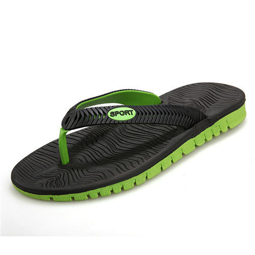 Men's Beach Slippers Flat Flip Flops - Bestshopup