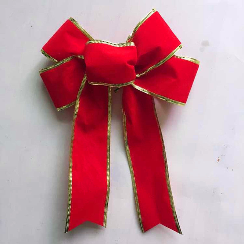 Large Bow Christmas Ribbons Bow For Festival Decoration Christmas Tree Bow Decoration Artificial Bows Supply 25CM - Bestshopup