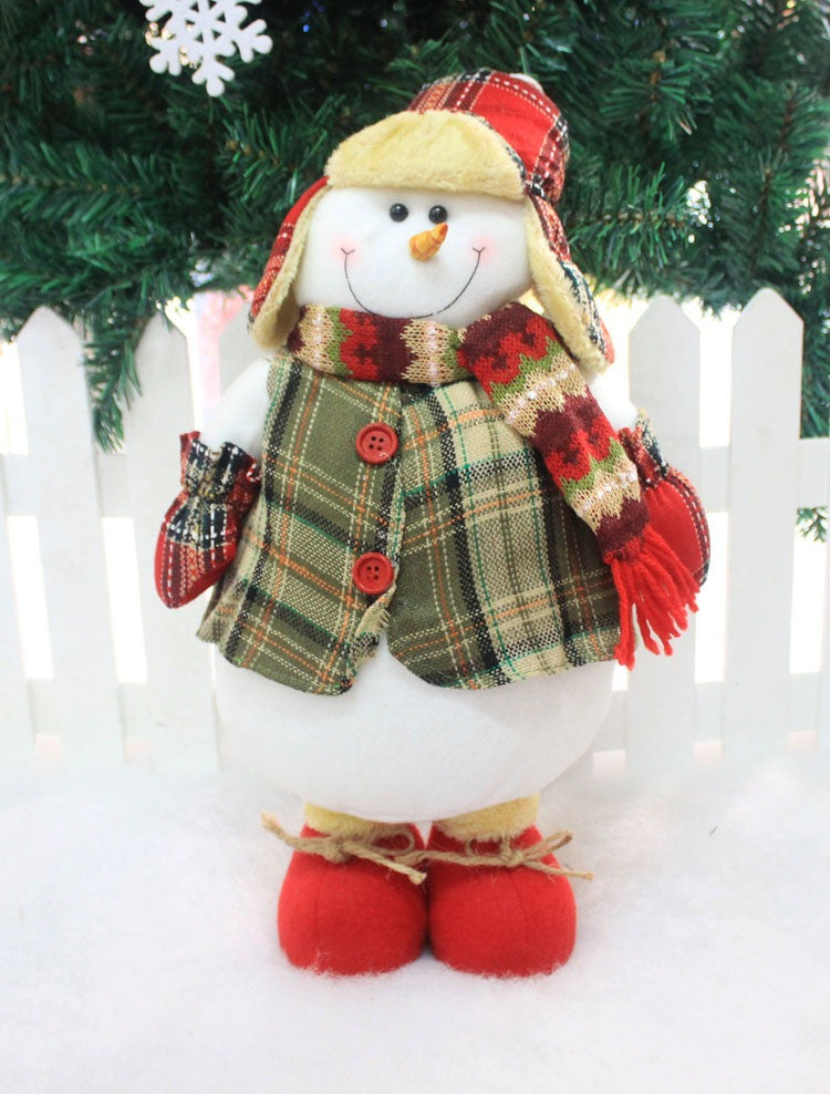 New Arrival Flannel Plastic Mr and Mrs Santa Claus Christmas Red Toy Doll Christmas Decoration Gift For Christmas Gift - Bestshopup