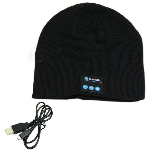 Warm Beanie Hat Wireless Bluetooth  Headphone Speaker Mic - Bestshopup