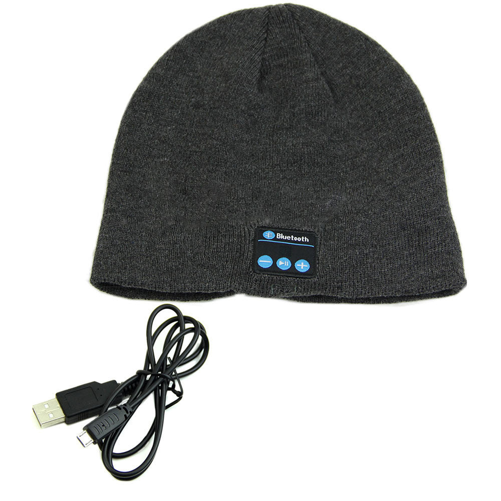 Soft Warm Beanies Hat Wireless Bluetooth Smart Caps Headset Headphone Speaker Mic - Bestshopup