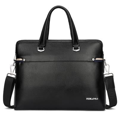 Men's Leather Briefcase Business Laptop Tote Bags - Bestshopup