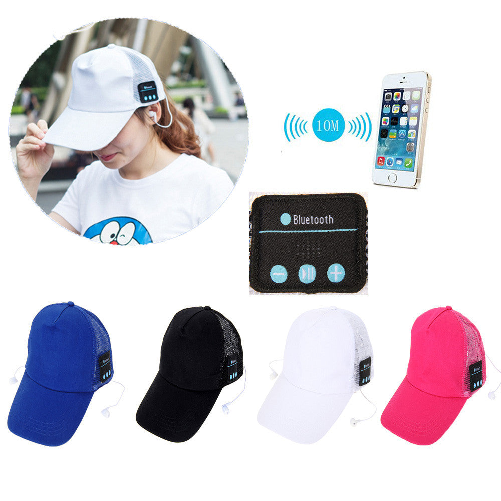 Bluetooth Baseball Cap Canvas Hat Wireless Headphone Speaker - Bestshopup