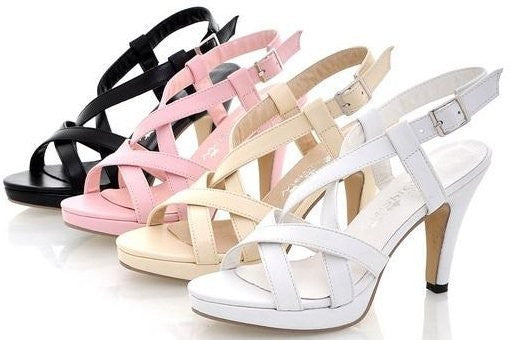 Women's Simple Gladiator Heeled Sandals - Bestshopup