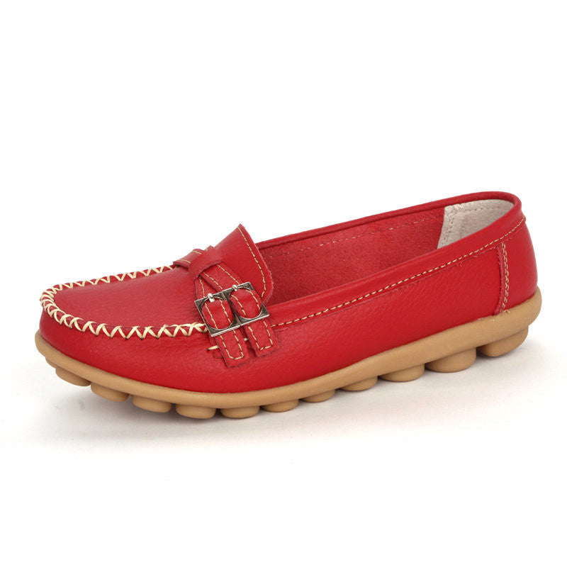 Women's Genuine Leather Slip On Moccasins - Bestshopup