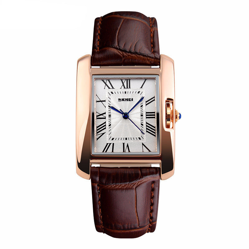 Women's Elegant Retro Leather Quartz Wrist Watch - Bestshopup