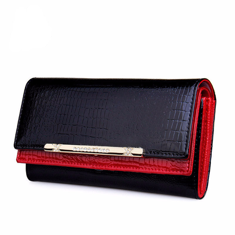 Women's Patent Leather Casual Wallet - Bestshopup