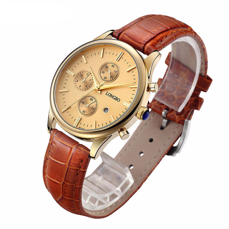 Men's Longbo Luxury Famous Style Quartz Wrist Watch - Bestshopup