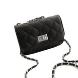 Women's Mini British Small Flap Plaid Leather Crossbody Shoulder Bags - Bestshopup