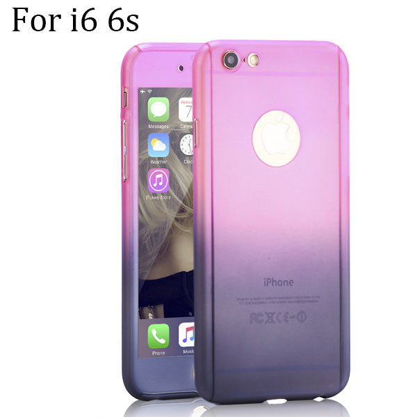 360 Degree Full Body Protection Gradient Stitching Color Phone Case - Bestshopup
