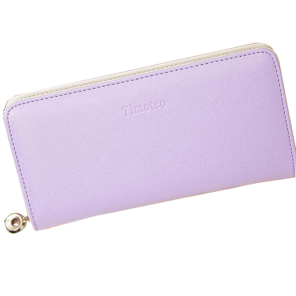 Women's Candy Color PU Long Leather Wallet - Bestshopup