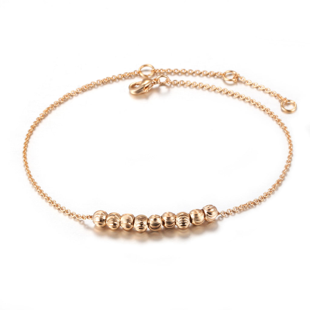 Women's Metal Beads Gold Plated/Silver Tone Anklets - Bestshopup