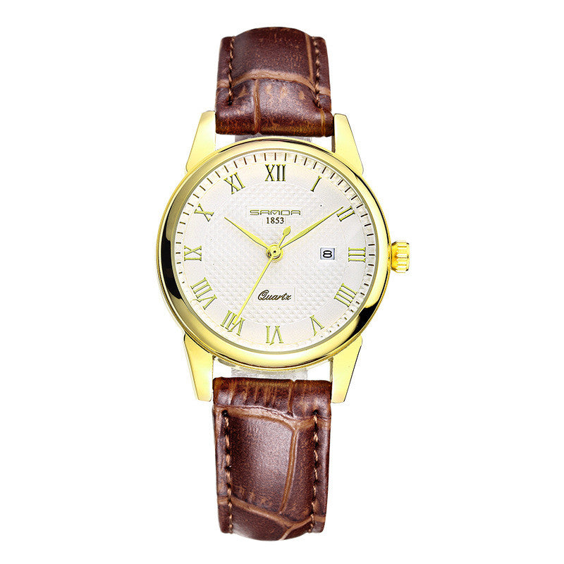 Men's Waterproof Leather Luxury Quartz-Watch - Bestshopup