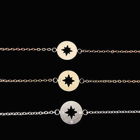 Women's Stainless Steel One Direction Compass Plated Bracelet - Bestshopup