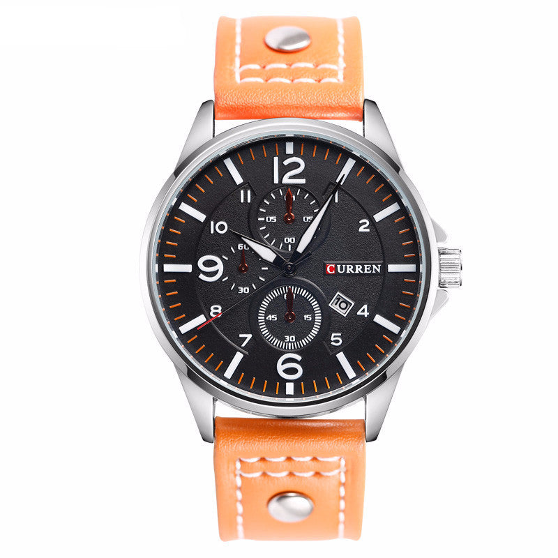Men's Curren Luxury Waterproof Genuine Leather Band Watch - Bestshopup