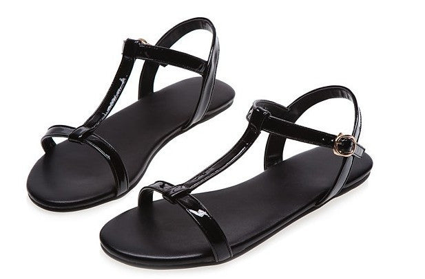 Women's European Fashion Simple Flat Sandals - Bestshopup
