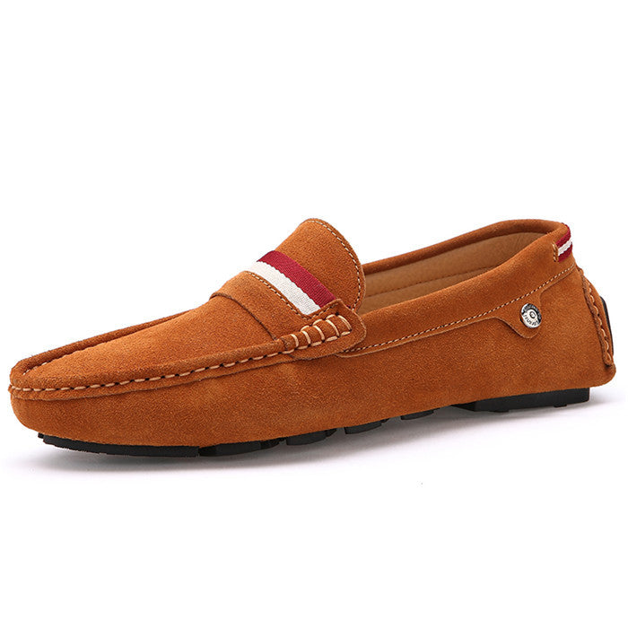 Men's Slip On Suede Leather Flat Loafers - Bestshopup