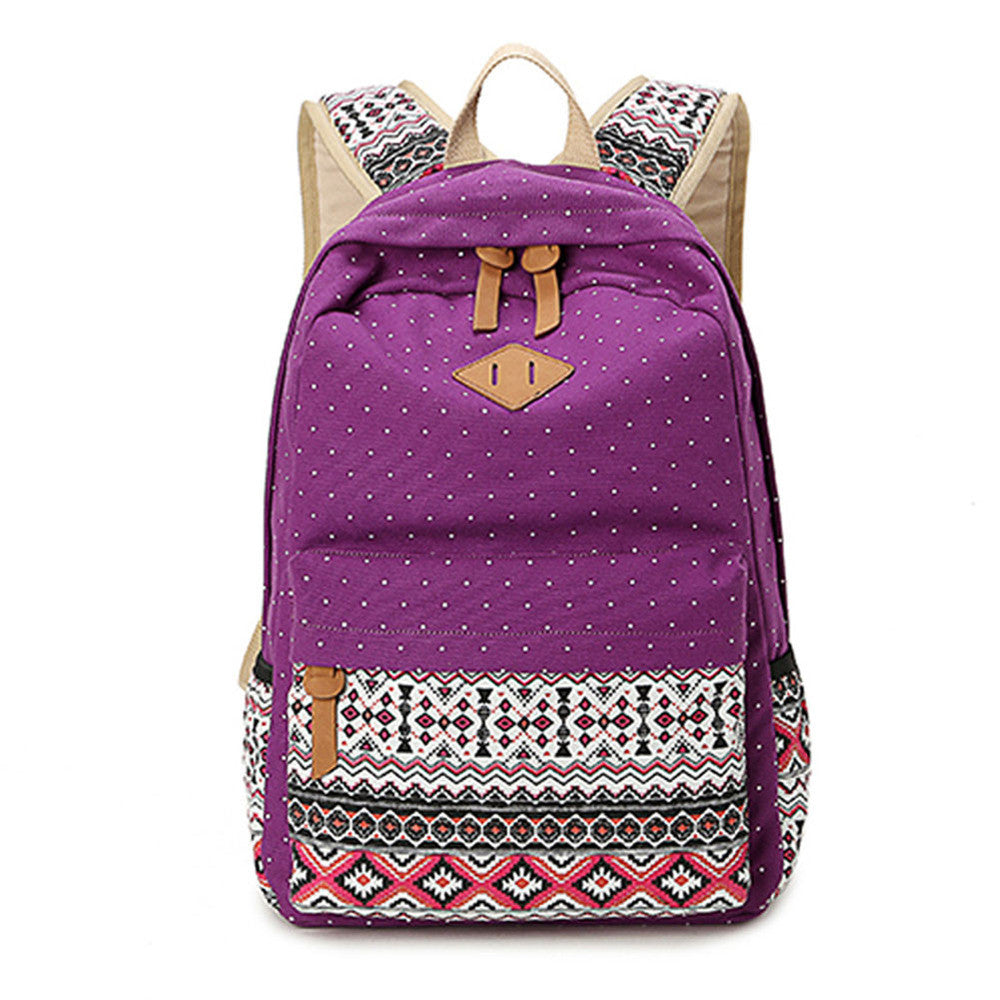 Lightweight Canvas Printed Backpacks Set - Bestshopup