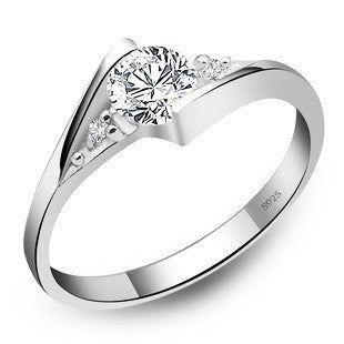 Women's Wedding Ring with Genuine Austrian Crystal Elements - Bestshopup