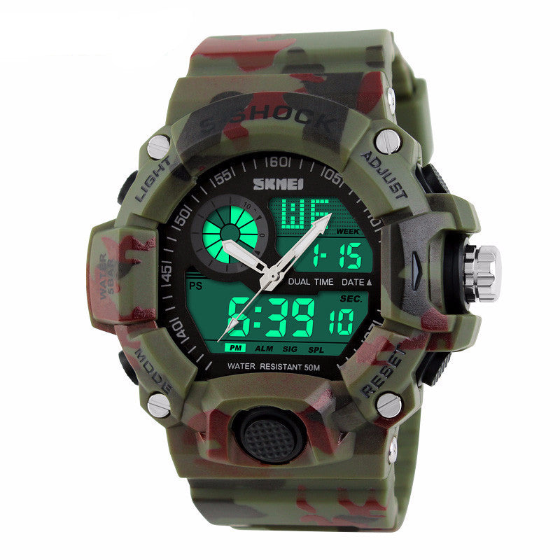 Men's S-SHOCK Resistant Sports waterproof electronic LED Digital Watch - Bestshopup