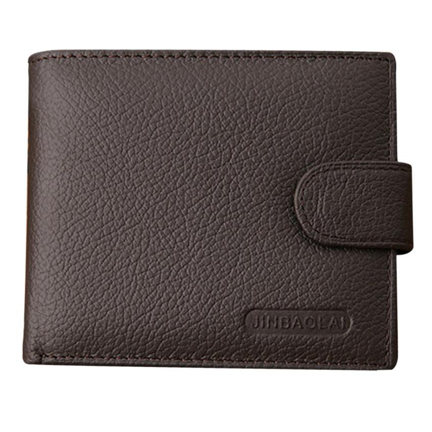 Men's Leather Purse Card Bifold Wallet - Bestshopup