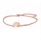 Women's Adjustable Lucky Stainless Steel Heart Bracelet & Anklets - Bestshopup