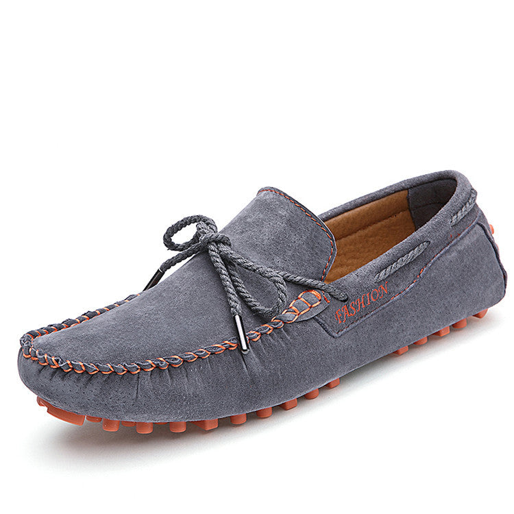 Men's Suede Leather Luxury Brand Breathable Flat Loafers - Bestshopup