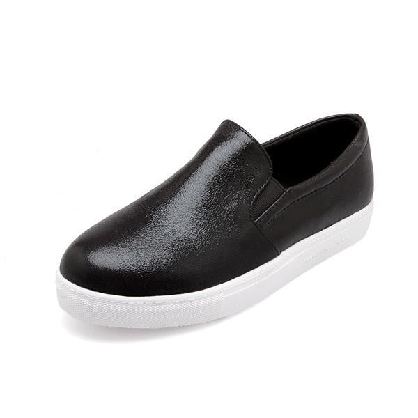 Women's Flat Slip On Soft Leather Casual Shoes - Bestshopup