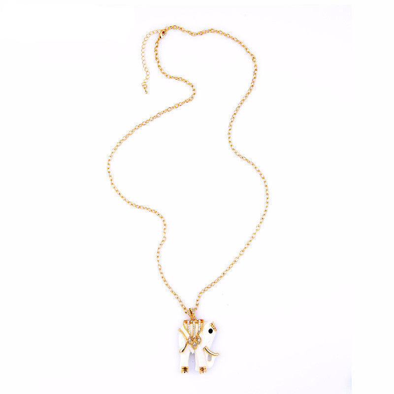 Women's Llucky Ruyi Royal long Elephant Necklace - Bestshopup
