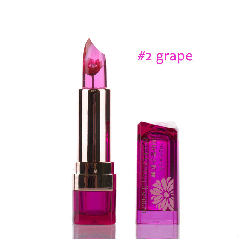 1Pc Waterproof Lipstick Jelly Fruit Lip Balm Stick Temperature Change Moisturizer - Bestshopup