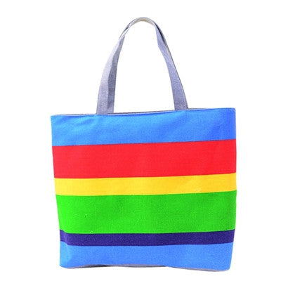 Women's Summer Canvas Beach Color Printing Handbag Tote - Bestshopup