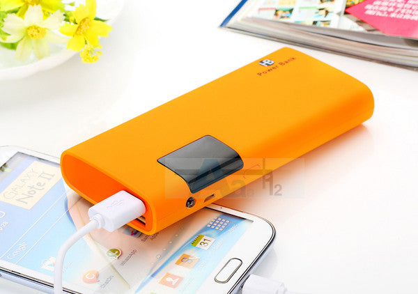 Mobile Power Bank 20000mah Dual USB LCD Display External Battery Packs Portable Charger - Bestshopup