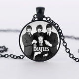 The Beatles Fashion Rock Band Pendant Glass Necklaces - Bestshopup