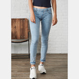 Women's Slim Vintage Denim Stretch Skinny Mid Waist Elastic Pants - Bestshopup