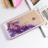 Transparent Clear Glitter Stars Dynamic Liquid Quicksand Hard Case - Bestshopup