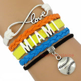 10pcs/Lot Miami Marlins Baseball Bracelet - Bestshopup