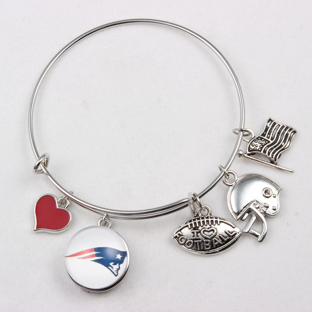 New England Patriots NFL I Love Football Expandable Bangle - Bestshopup