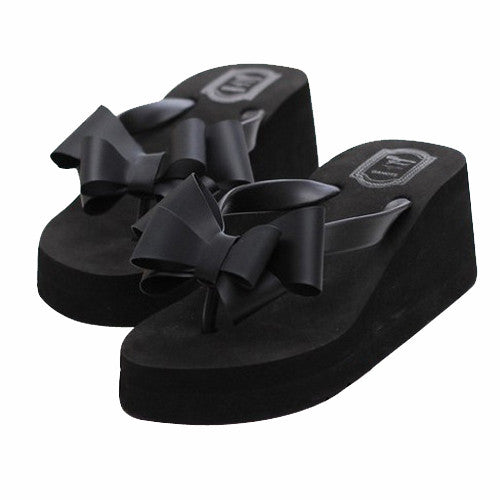 Women's Open Toe Bowtie Slipper Sandals - Bestshopup