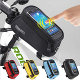 Cycling Bike Frame Front Tube Touch Screen Bags Panniers Holder Pouch for Cell Phone - Bestshopup