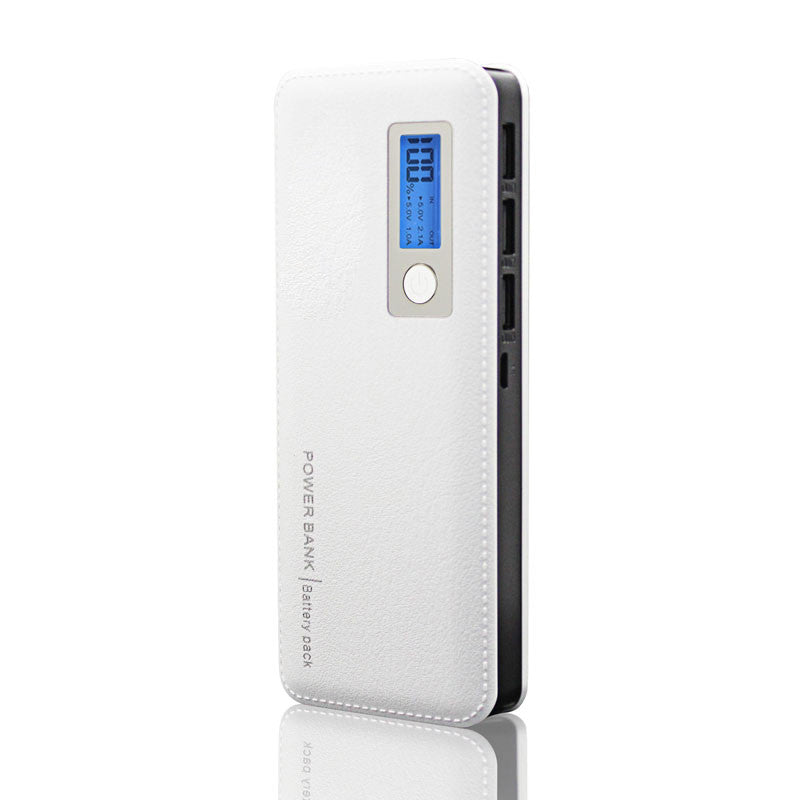 12000mAh Power Bank 3 USB Portable Charger External Battery Pack LED Light Fast Charging - Bestshopup