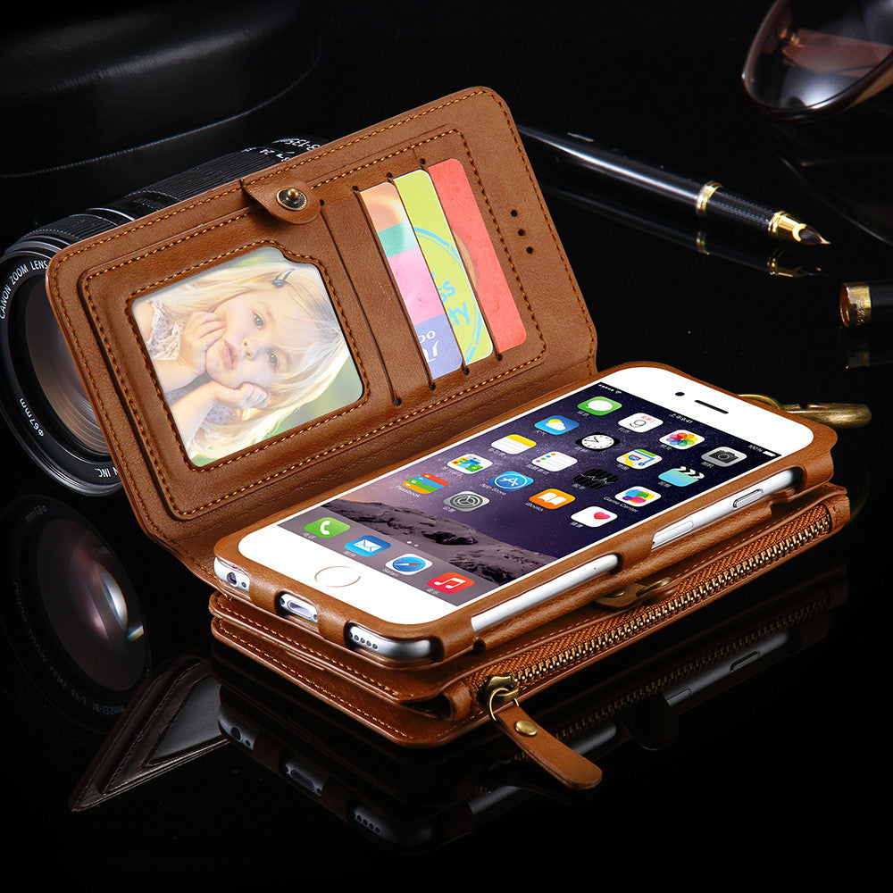 Retro Leather Wallet Phone Case For iPhone - Bestshopup
