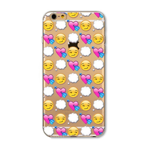 Emoji Clear Silicon Iphone Case - Bestshopup